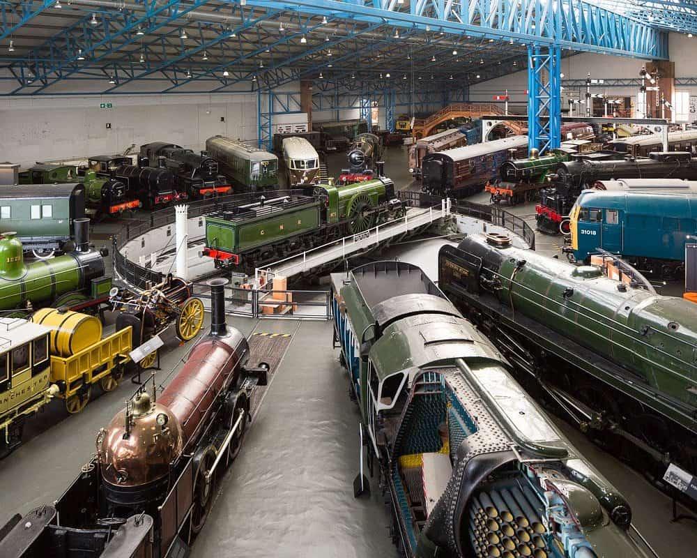 Trains displayed at kid-friendly National Railway Museum, York
