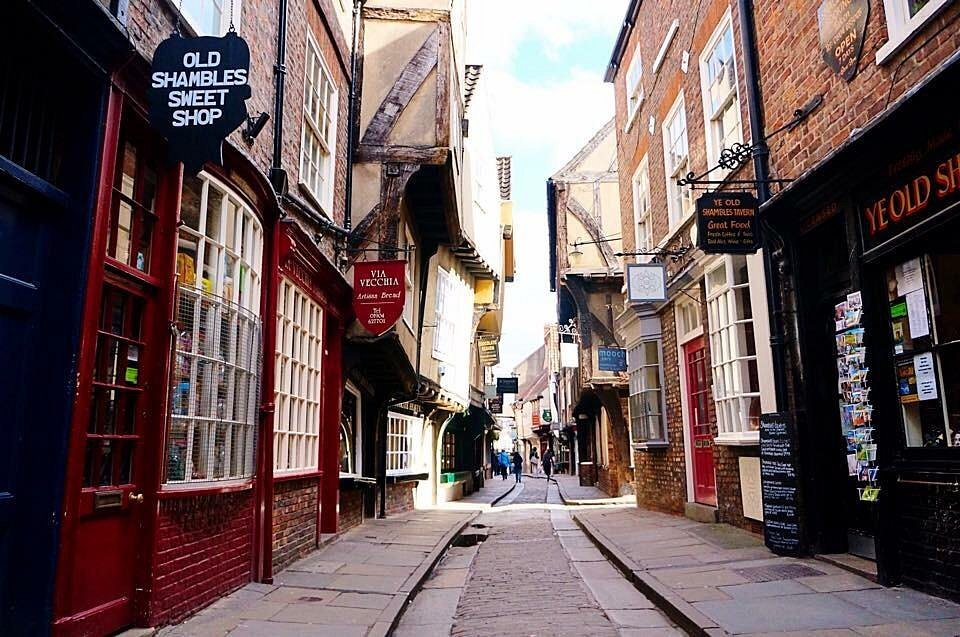 Stores at Shambles market which was the inspiration behind Diamond Alley of the Harry Potter Fame