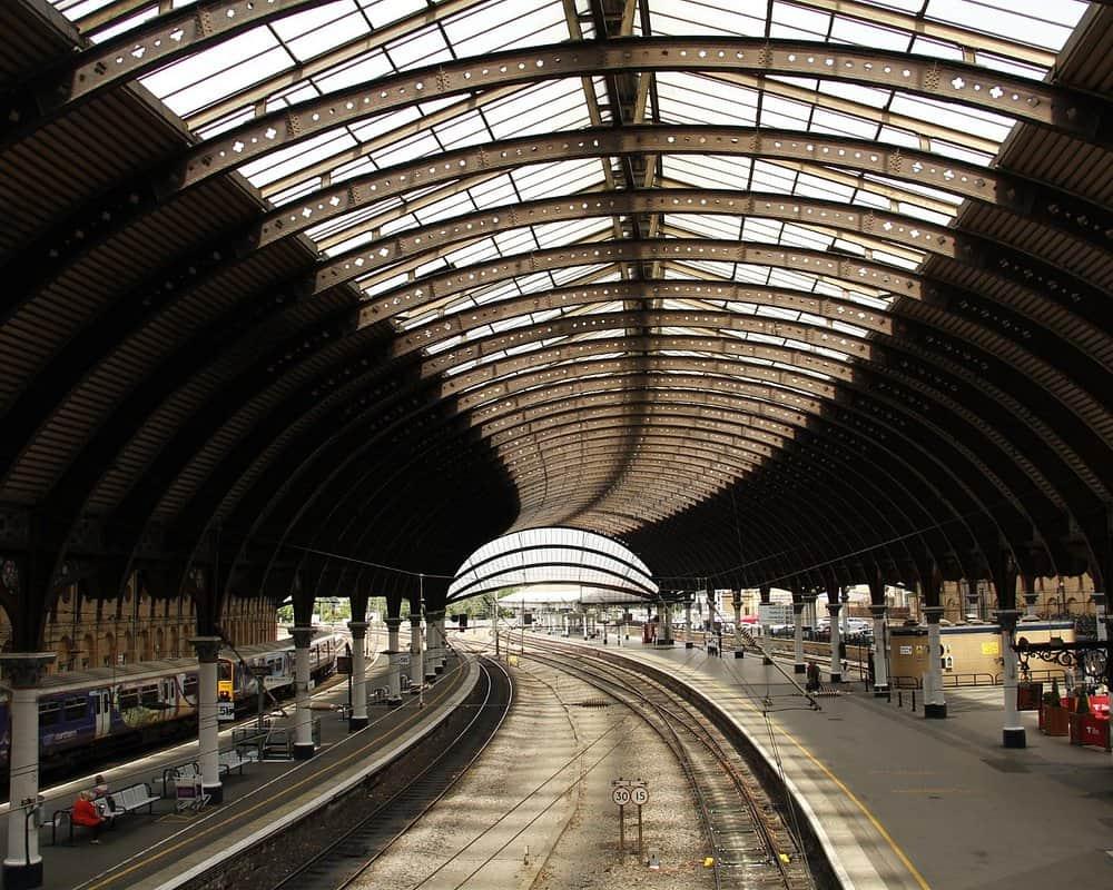 Beautiful architectural design of York Railway Station