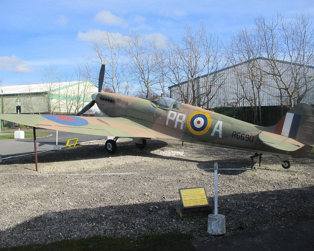 Fighter Jet with camouflage color at Yorkshire Air Museum
