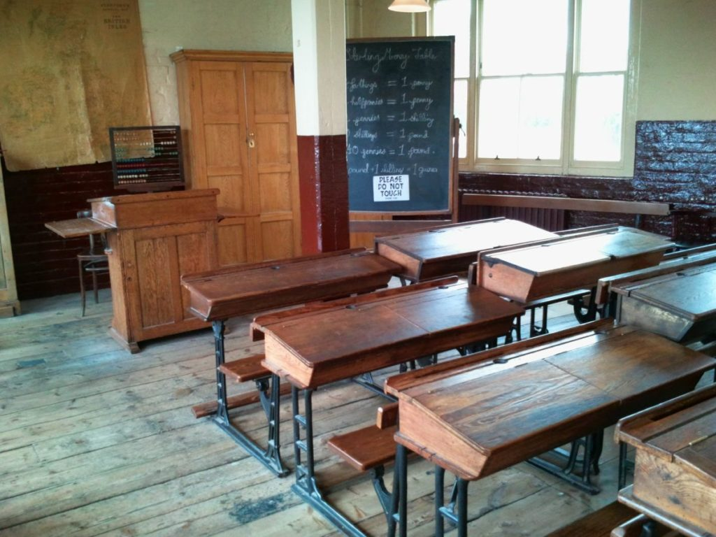 a classroom inside the ragged school museum where kids can learn how to become an engineer, scientist or inventor