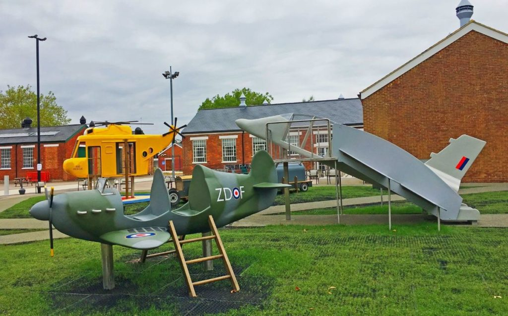 aircraft playground where kids can play at the royal air force or raf museum in london