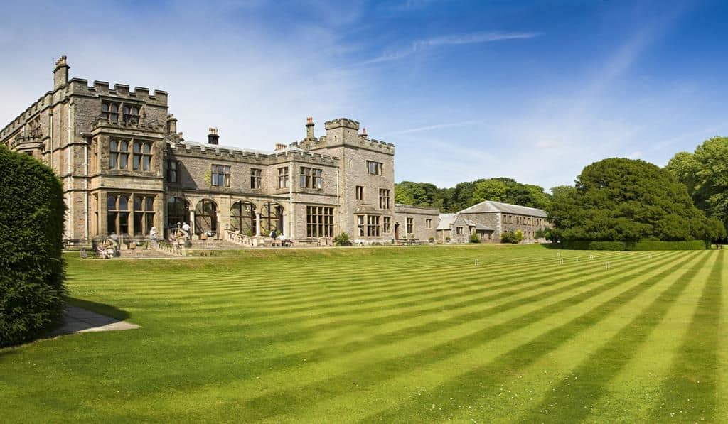 external view of the grounds and armathwaite hall hotel and spa in the lake district