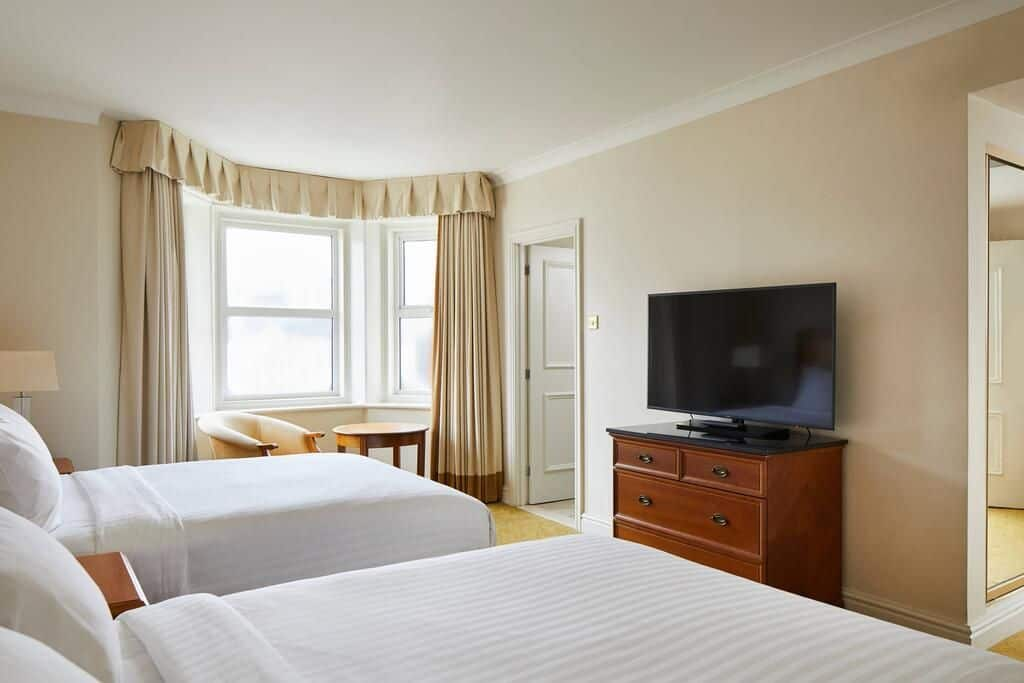 Big family room at the Bournemouth Highcliff Marriott Hotel in Dorset