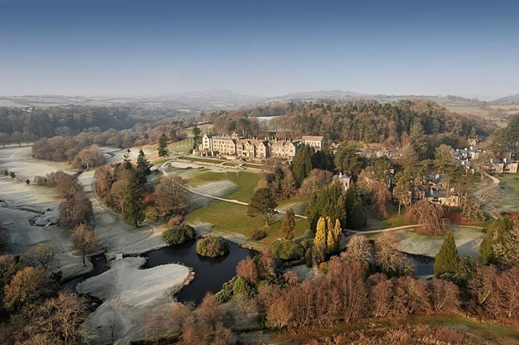 spectacular view of bovey castle in devon