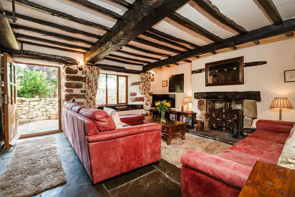 inside one of the cottages at bridge end farm in the lake district