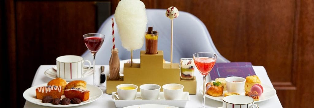 sweet chocolate dessert at charlie & the chocolate factory afternoon tea at one aldwych