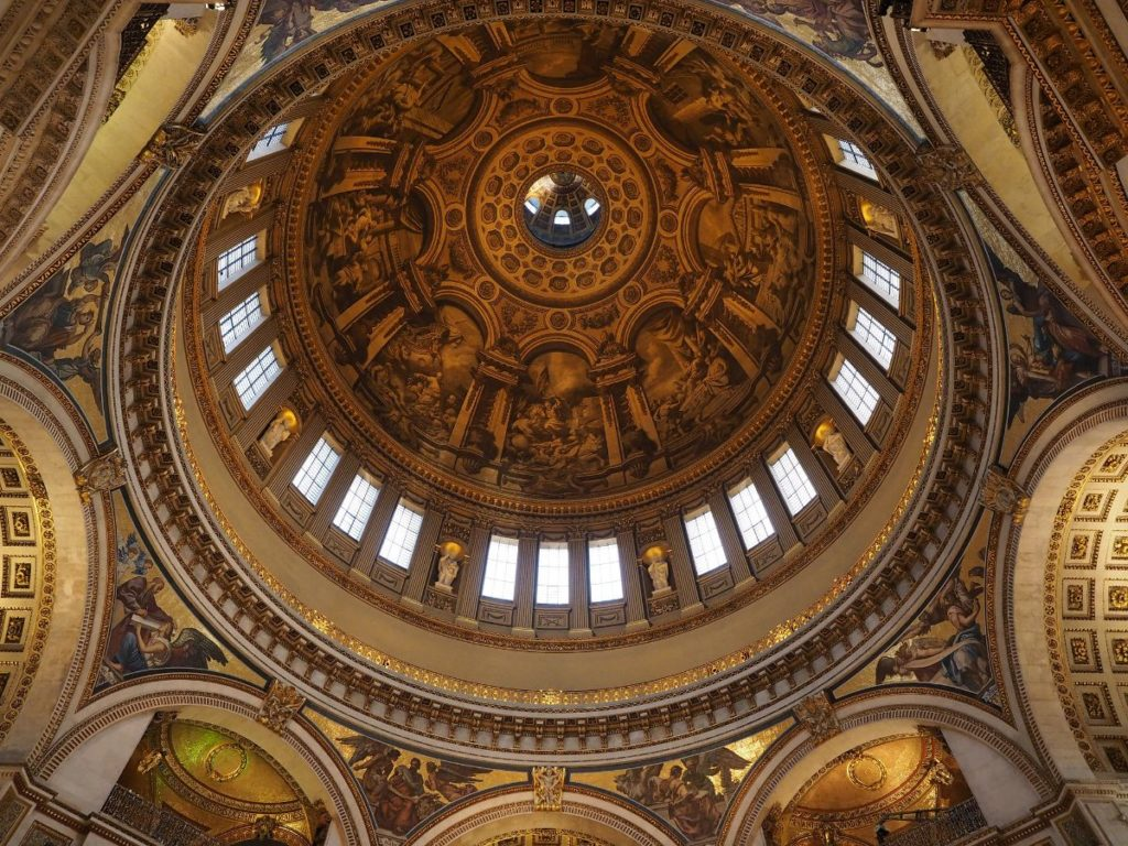 close-up image of the world-famous dome at st. pauls