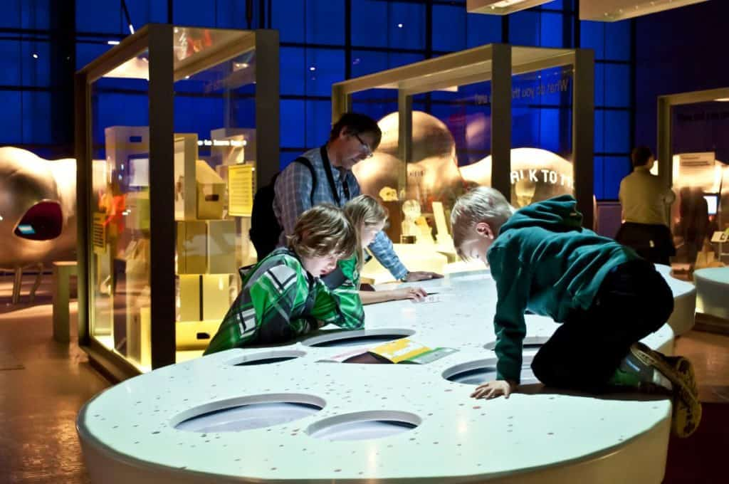 kids having fun exploring the science museum in london