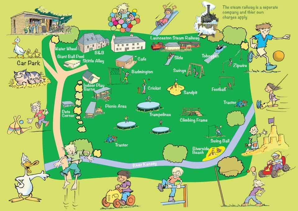 Map of New Mills Farm Park