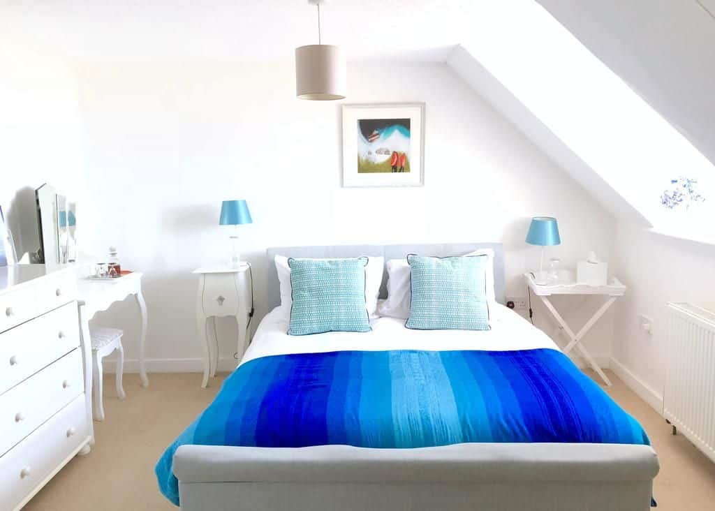 bedroom at no.98 boutique hotel in weymouth dorset