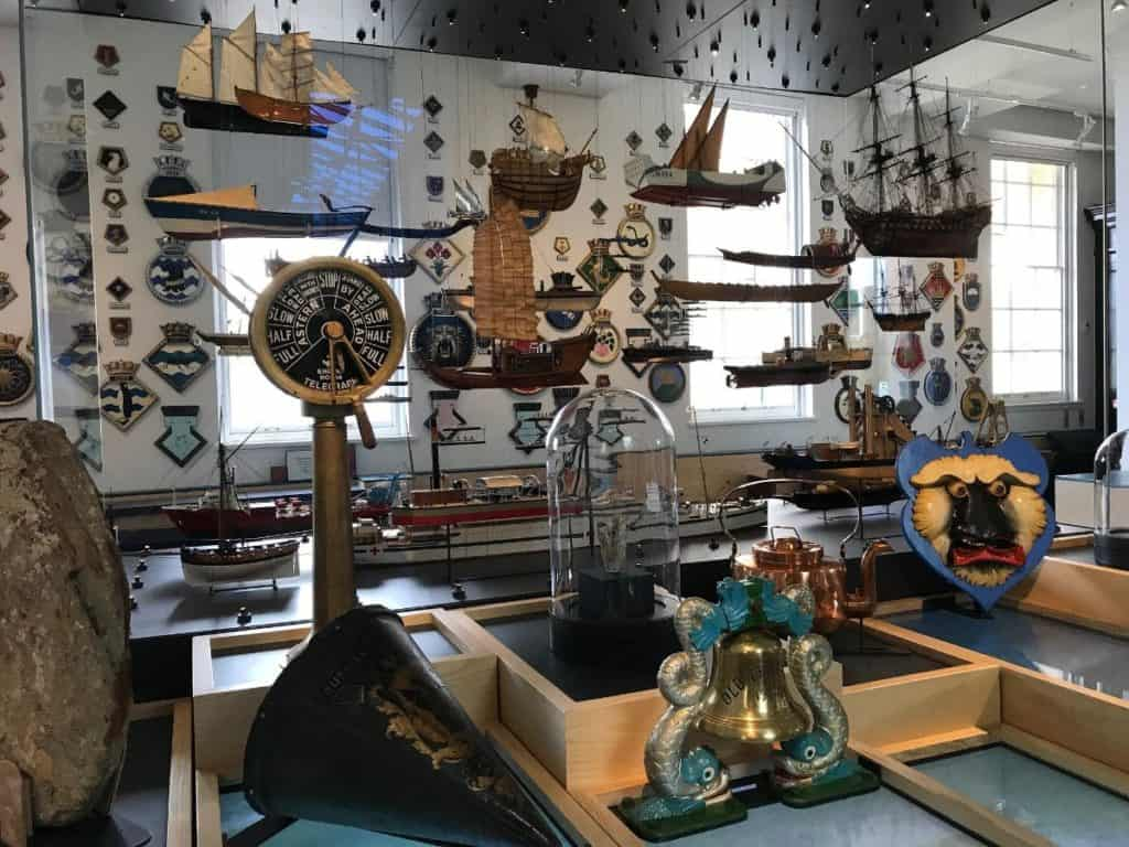 ships, historical and maritime items displayed at the national maritime museum