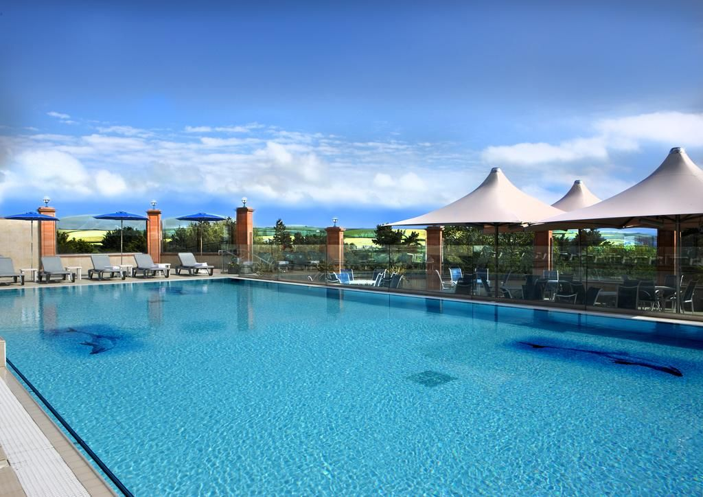 swimming pool at the Thurlestone Hotel in Devon
