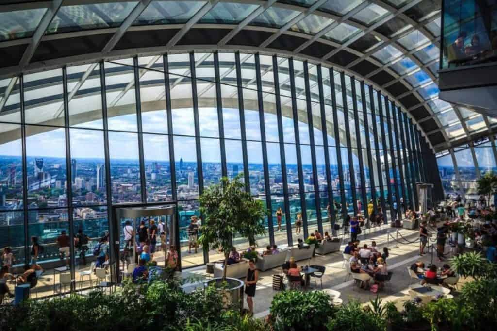 viewing london inside the sky garden with the family
