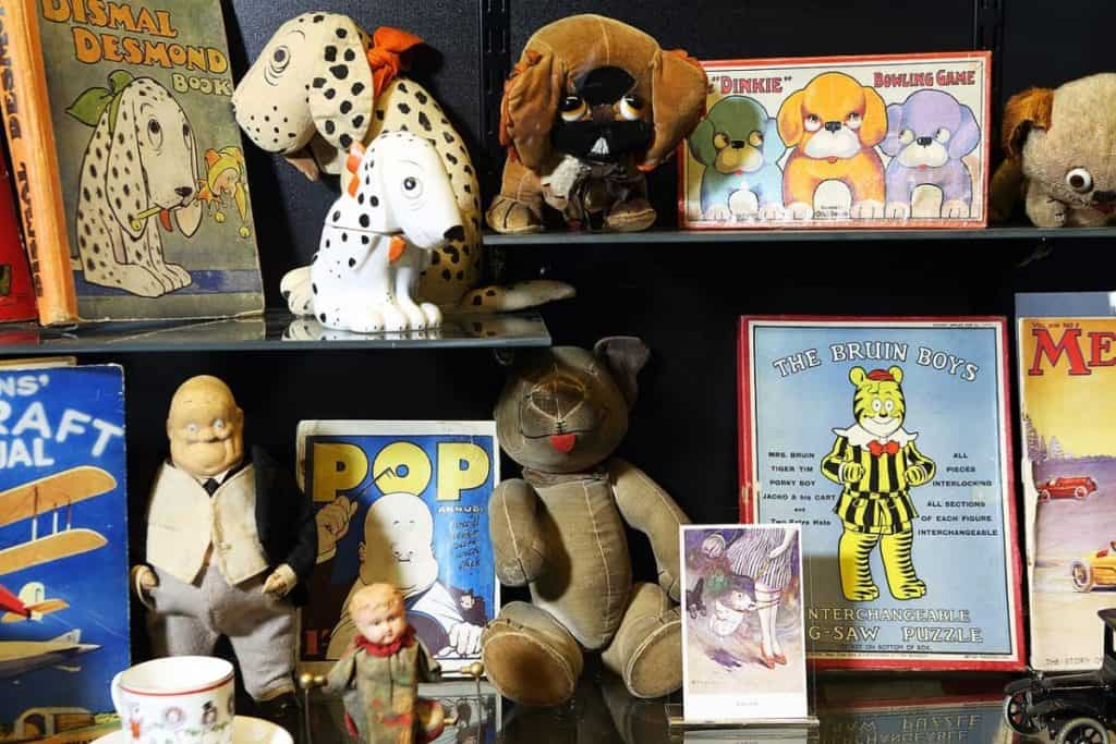vintage toys and bears at the child-friendly museum of brands