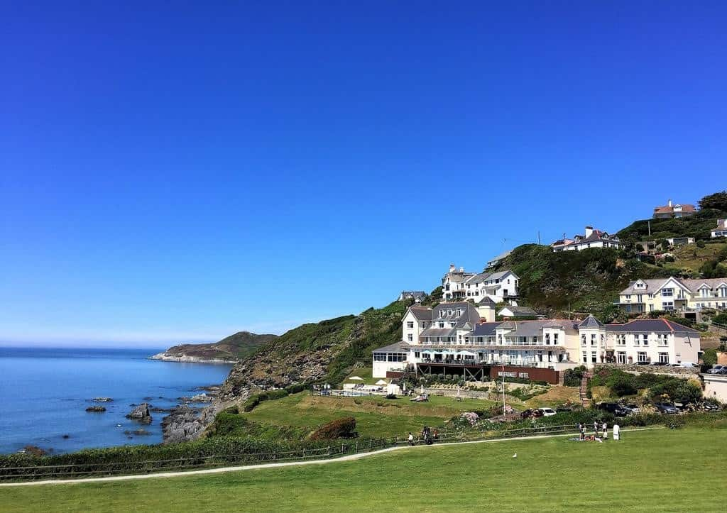 View of the family-friendly Watersmeet Hotel (Woolacombe)