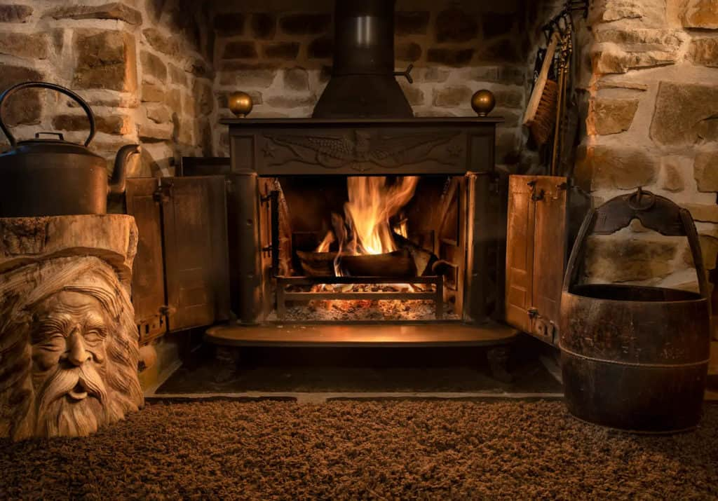 In addition to the central heating, there's a beautiful wood burner to keep you toasty.