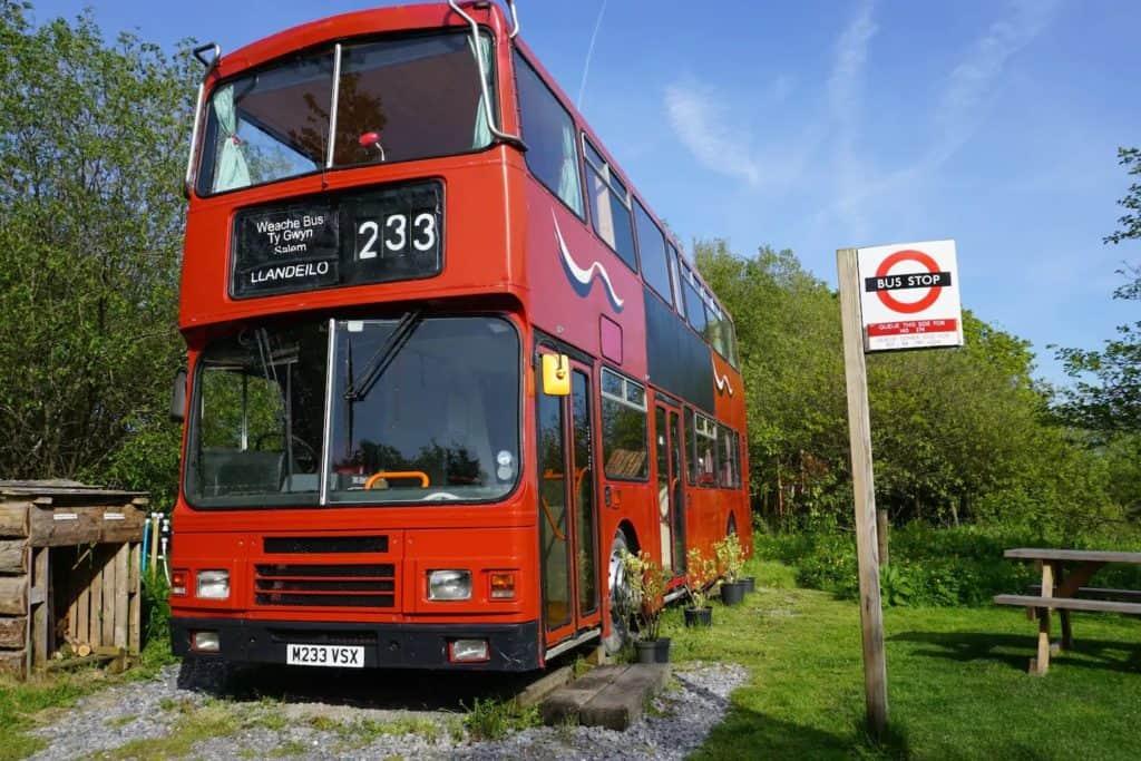 Weache Bus is a lovingly converted ex-Edinburgh double decker.
