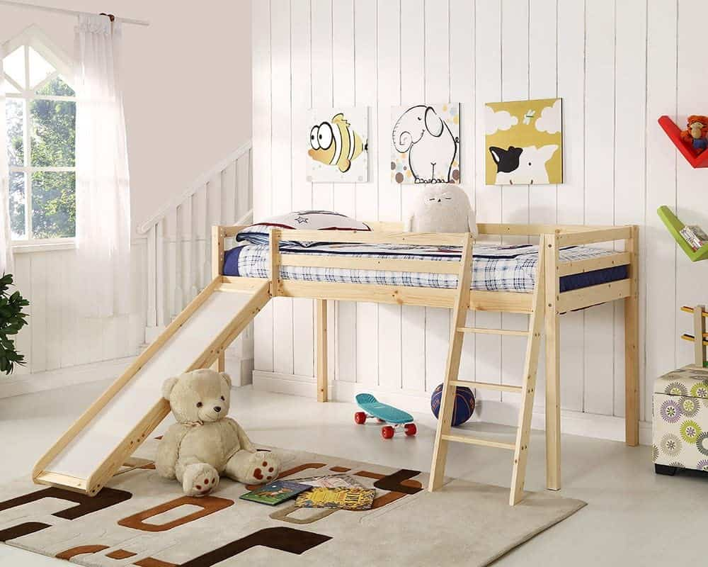 Cabin bed with slide from Amazon