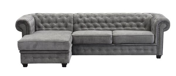 Alderwood Chesterfield Corner Sofa Bed