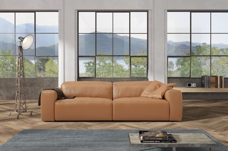 Allysia Genuine Leather 2 Seater Reclining Sofa