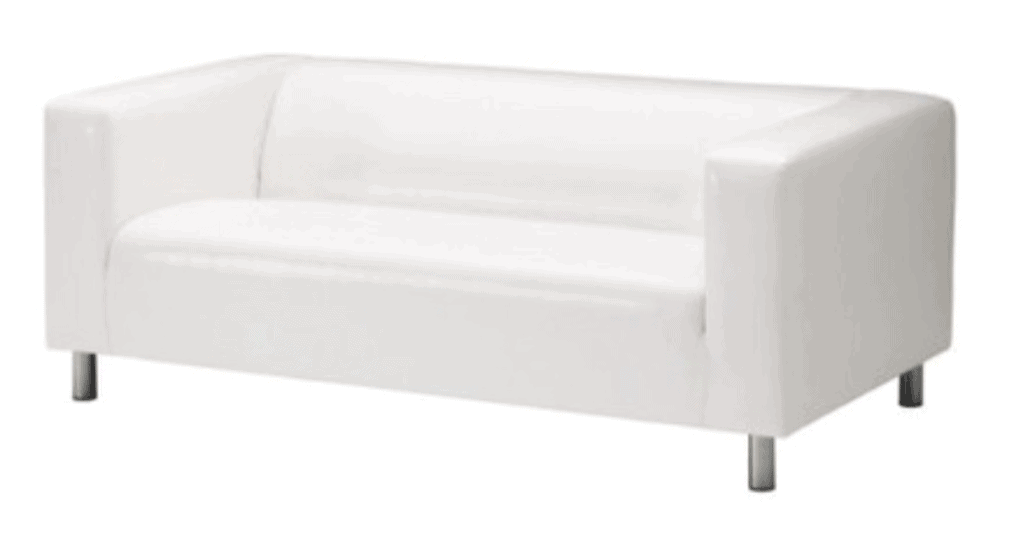 Argos Home Moda 3 Seater Faux Leather Sofa - White