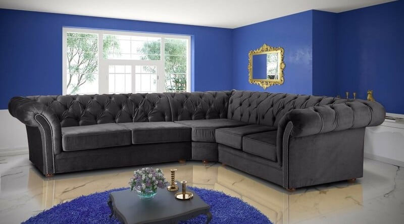 Judith Modular Fabric Chesterfield Corner Sofa