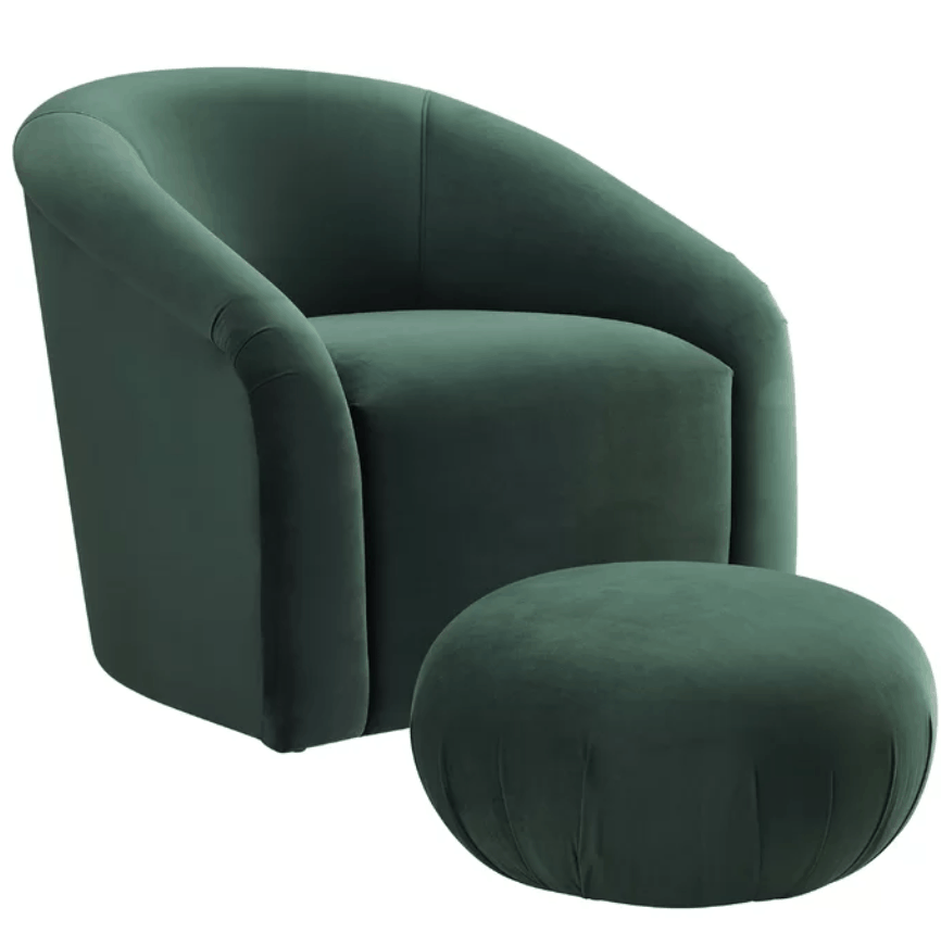 Nelsen Tub Chair and Footstool