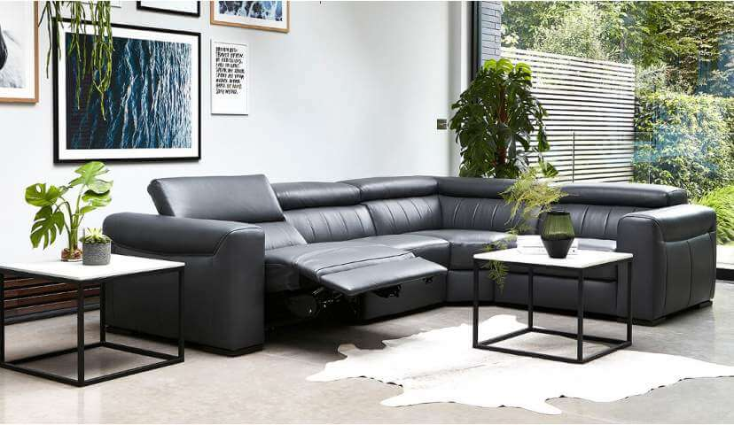 Florentina Large Leather Corner Recliner Sofa