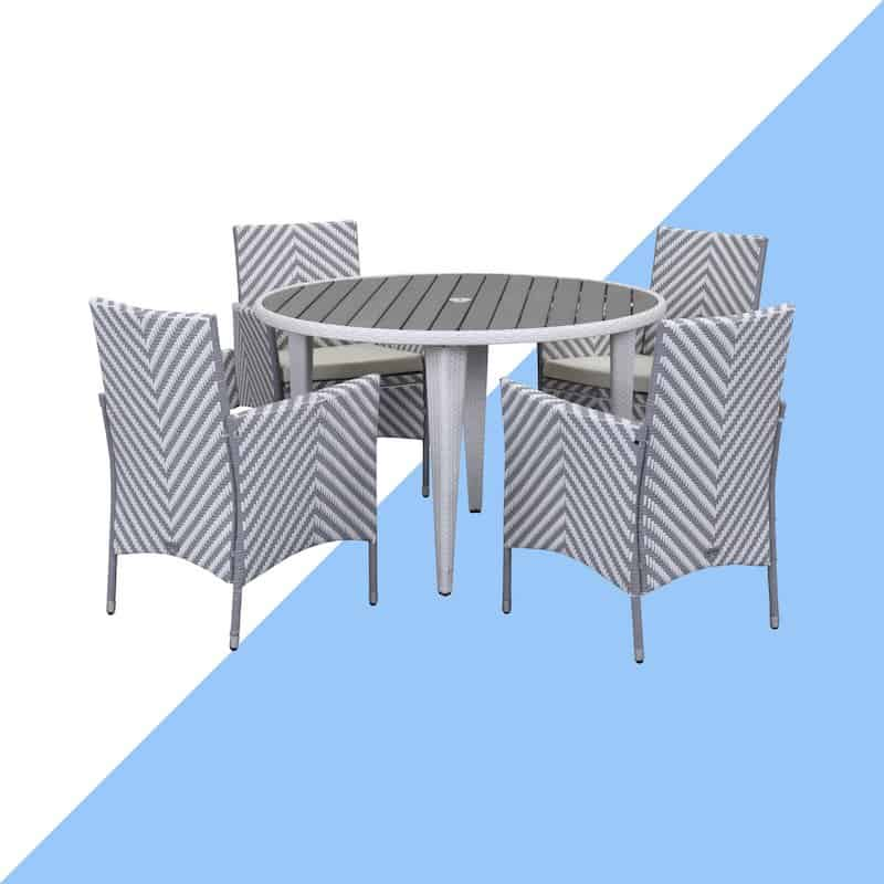 Bjarne 4 Seater Dining Set with Cushions