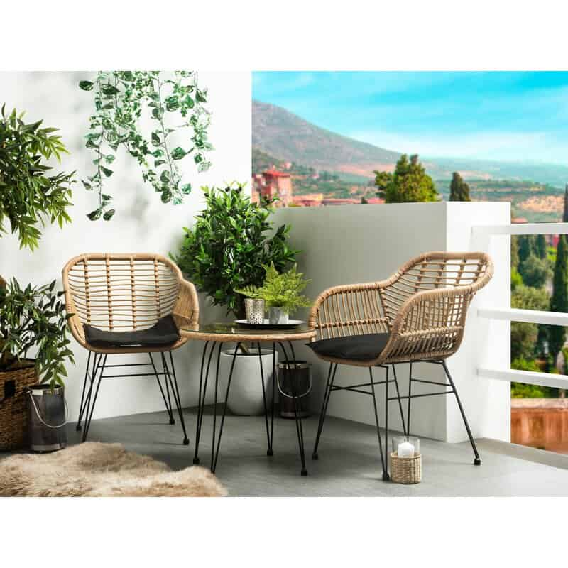 Carnforth 2 Seater Bistro Set with Cushions