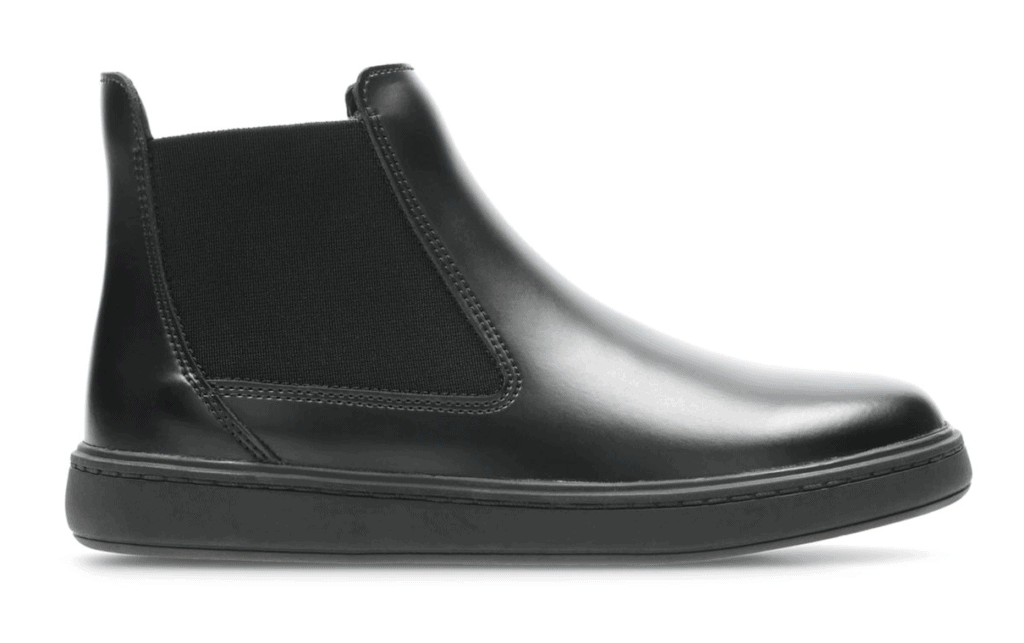 Clarks Street Edge Youth Black Leather Boot