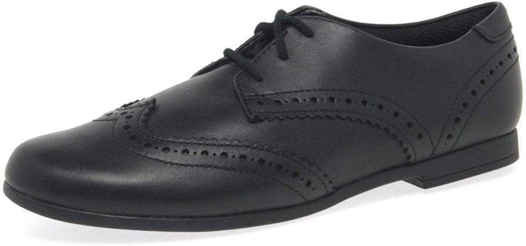 Clarks Scala Lace Youth Black Leather