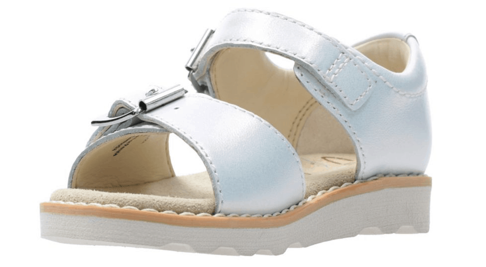 Crown Bloom Toddler White Leather