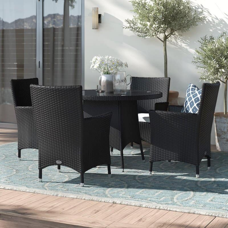 Jessee 4 Seater Dining Set with Cushions