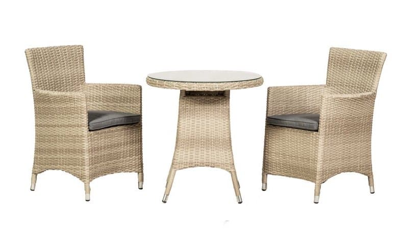 Melia 2 Seater Bistro Set with Cushions