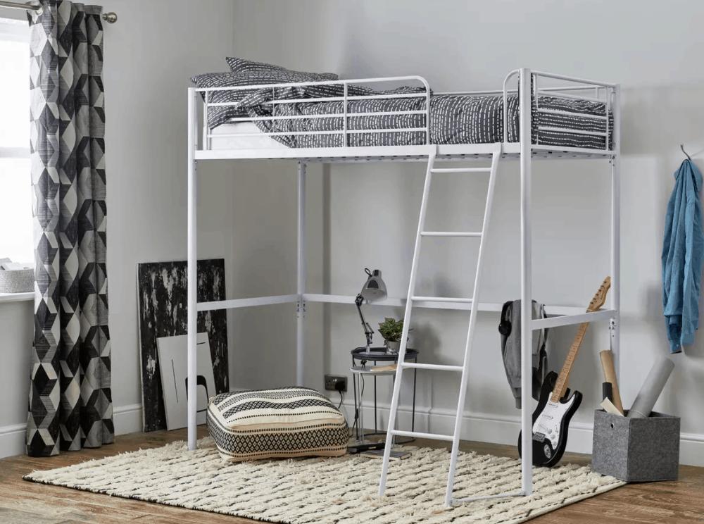 Argos Home Riley High Sleeper Metal Bed Frame - White
