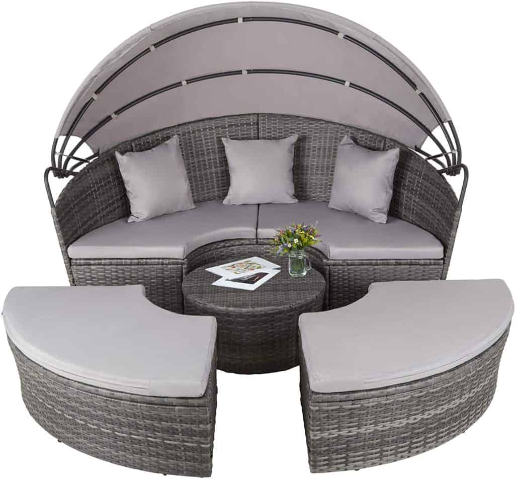 TecTake Rattan Daybed