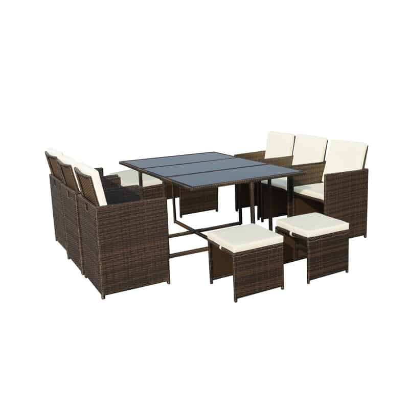 Titcomb 10 Seater Dining Set with Cushions