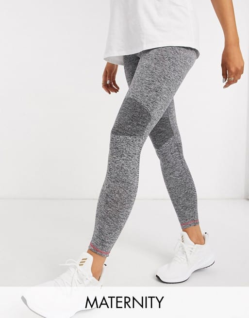 Mamalicious Maternity Sports Leggings In Grey