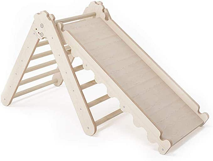 MAMOI Climbing Triangle & Wooden Slide