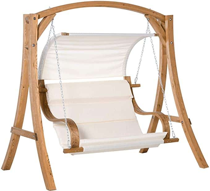 Outsunny Wooden Porch Swing Chair