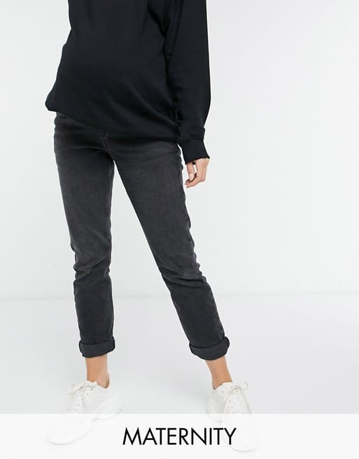 New Look Maternity mom jean in black from Asos