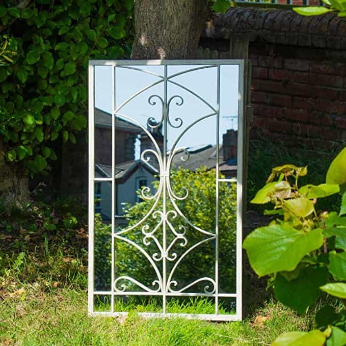 Woodside Alston Large Decorative Outdoor Garden Mirror