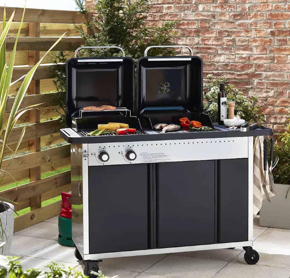 GoodHome Rockwell Black Hybrid Barbecue