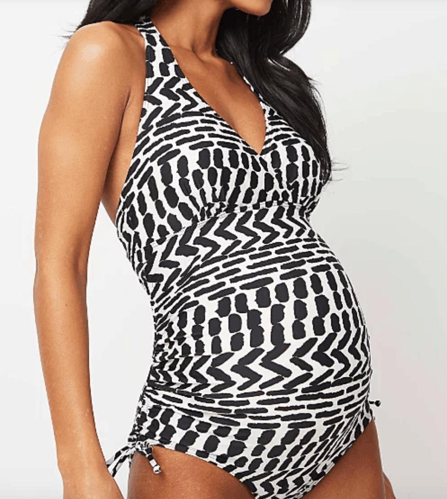 George Maternity Cream Mark Print Swimsuit