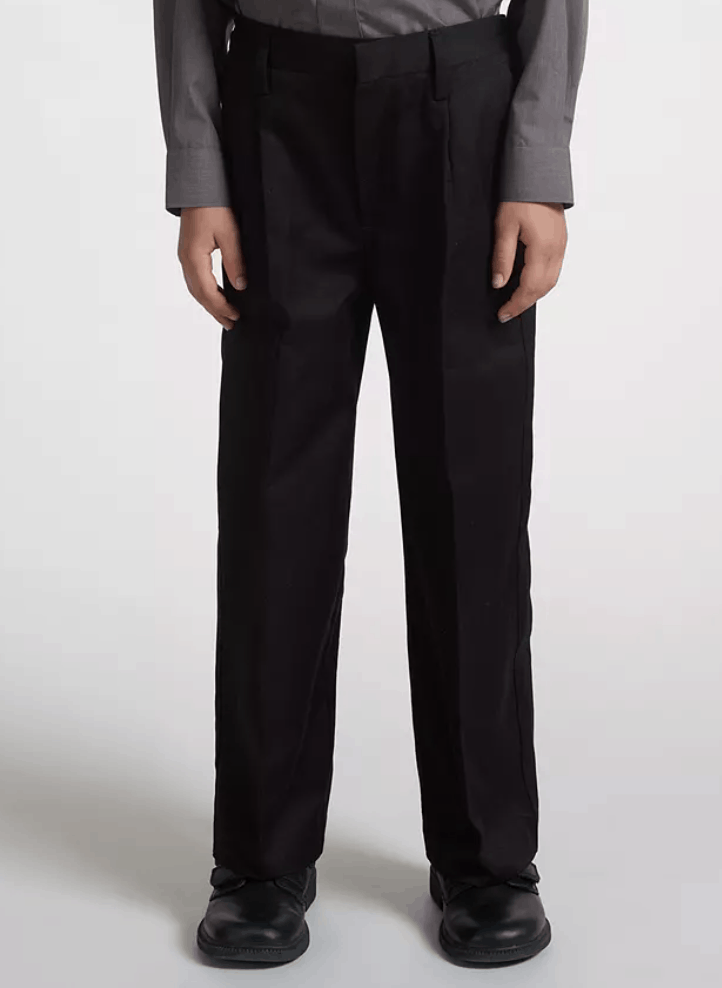 John Lewis & Partners Boys' Pure Cotton Adjustable Waist Straight Leg School Trousers