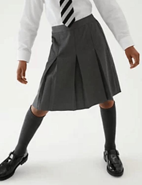 M&S Girls' Longer Length School Skirt