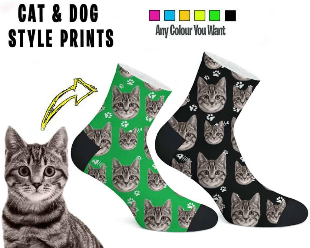 Personalised Pet Face Photo Ankle Socks (Pinewayart, Etsy)